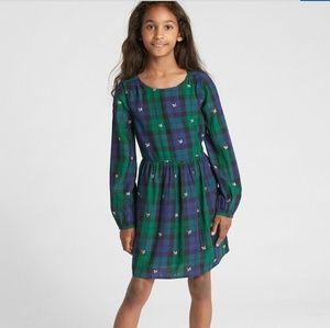 Gap Sarah Jessica Parker plaid long sleeve dress